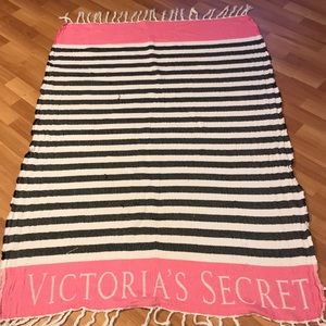 Victoria secret through blanket